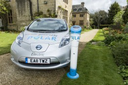 POLAR car and charging point.