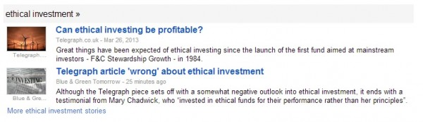 Telegraph article 'wrong' about ethical investment - Blue and Green Tomorrow