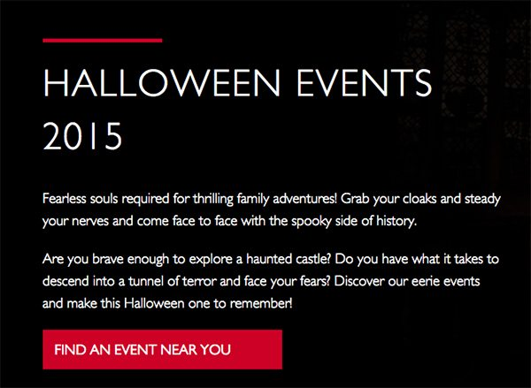 English Heritage Halloween Events