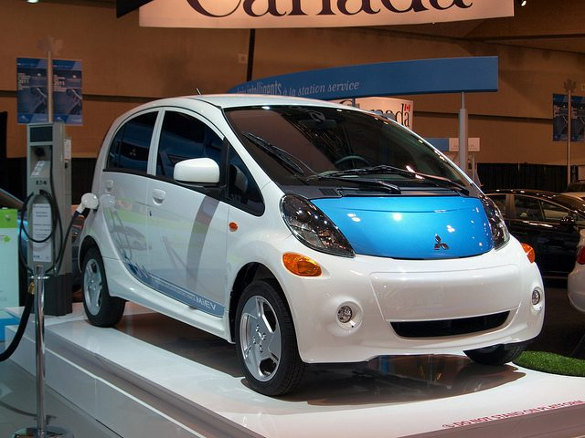 Blue Green S Top Electric Cars Mitsubishi Imiev Blue