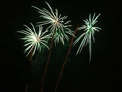 green fireworks - Blue and Green Tomorrow