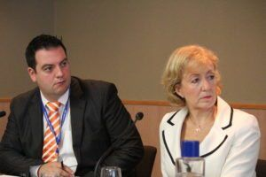 PX's Jonathan Simons and Andrea Leadsom MP by policy exchange via Flikr