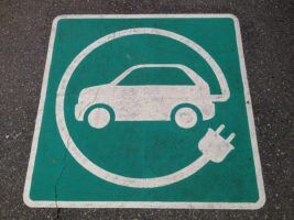 Electric Car Charging Pavement Marking by Paul Krueger via Flickr