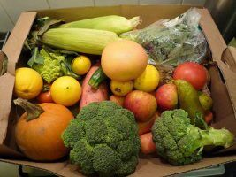 Heaving with fruit and veg by spentrails via Flikr