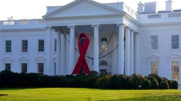 Red Ribbon on the White House by Ted Eytan via Flikr