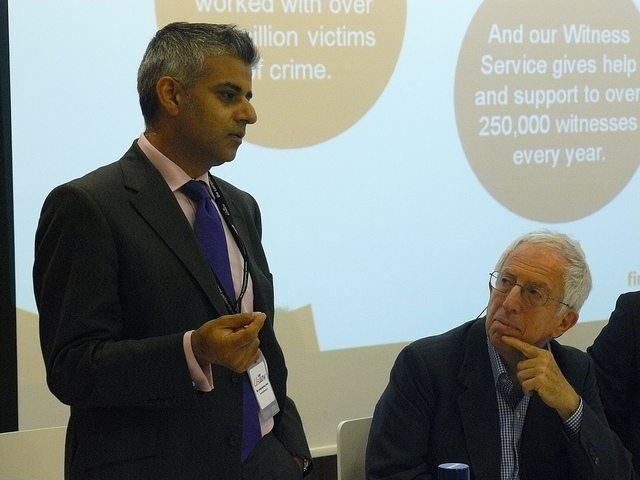 Rt Hon Sadiq Khan MP and Roger Graef at Has Labour lost the plot on crime by Policy Exchange via Flickr