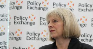 Rt Hon Theresa May MP, Home Secretary, at The Pioneers Police and Crime Commissioners one year on by Policy Exchange via Flickr