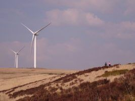 Scout Moor Wind Farm and some people by Gidzy via Flickr