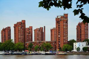 World's End Estate across Thames by George Rex via Flickr