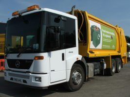 bin lorries food waste livery5 by North Devon Council via Flickr