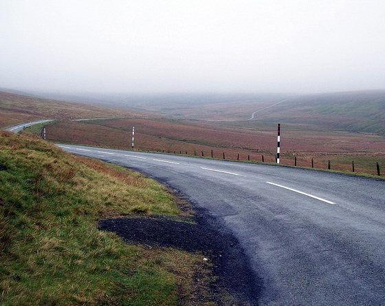 LONELY MISTY ROAD By summonedbyfells Via Flickr
