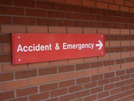 Accident and Emergency Sign by Lydia via Flikr