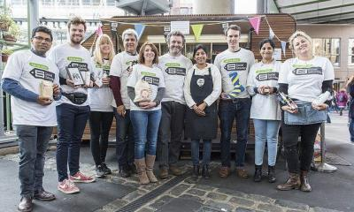 Actor Michael Sheen Meets Social Entrepreneurs At London's Borough Market