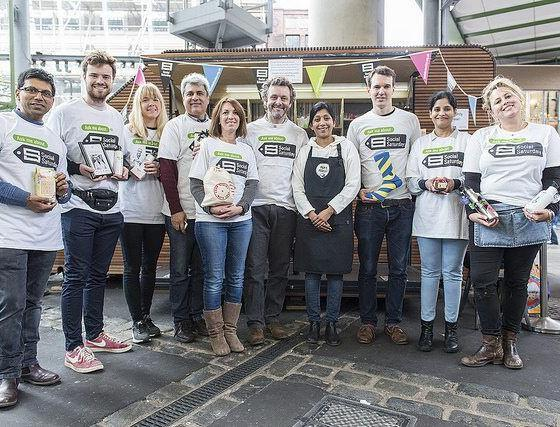 Actor Michael Sheen Meets Social Entrepreneurs At London's Borough Market