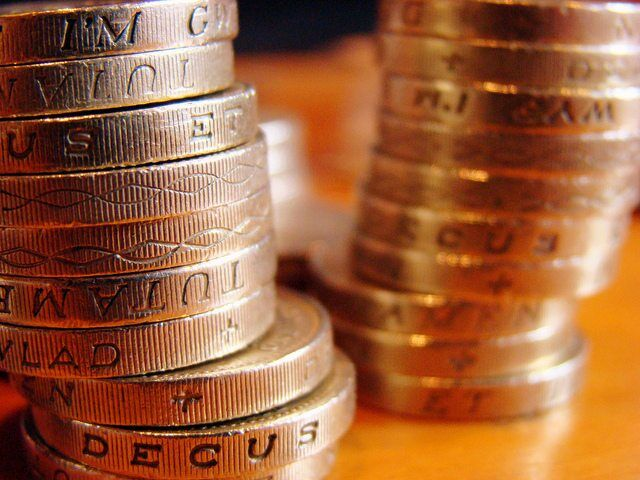 Pound Coins by JD Mack via flickr