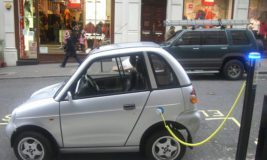 electric car charging point by Frank Hebbert via flickr