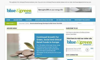 Blue & Green Adviser website