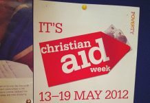 Christian Aid Week poster 2012 by Howard Lake via flickr