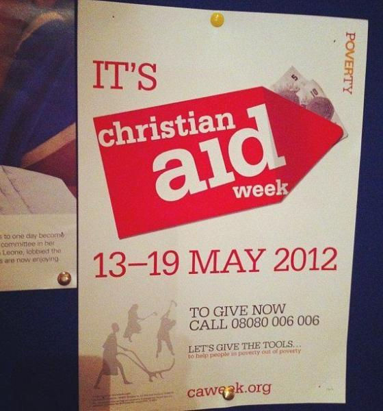 Christian Aid Week poster 2012 by Howard Lake via flickr