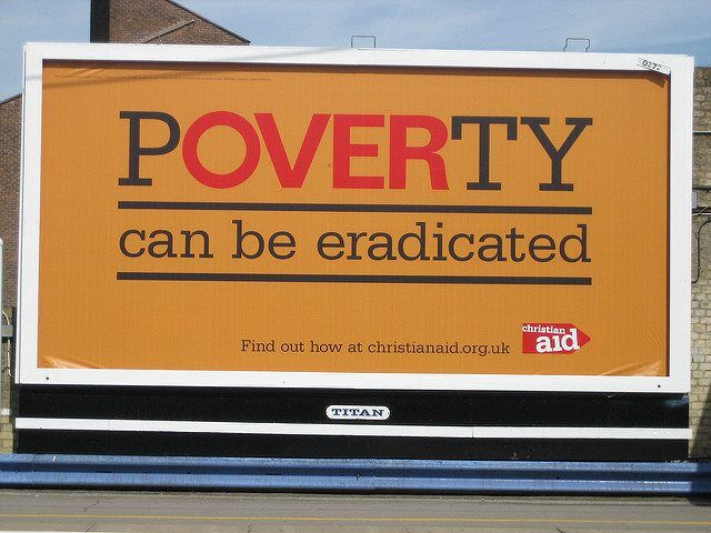Christian Aid's Poverty can be eradicated poster by Howard Lake via flickr