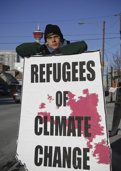 Climate Change Refugees by ItzaFineDay via flickr