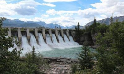 Seebee Dam Alberta Canada by Thank you for visiting my page via flickr