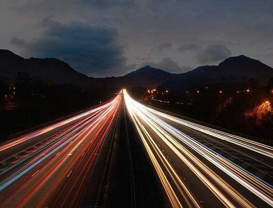 Traffic Trails By Barry Davis Via Flickr