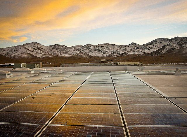 Black Rock Solar photovoltaic array at Food Bank of Northern Nevada by BlackRockSolar via flickr