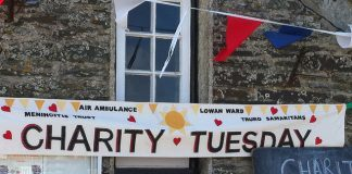 Charity Tuesday banner, Tintagel by Howard Lake via flickr