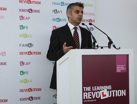 Sadiq Khan speaking by DIUS corporate via flickr