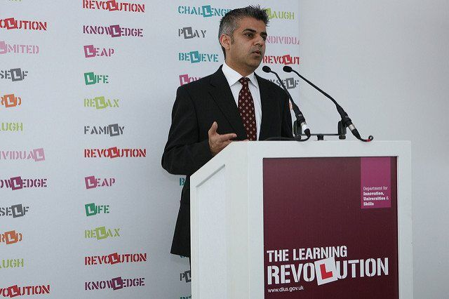 Sadiq Khan speaking by DIUS corporate via flickr