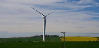 Wind Turbine Sanction Hill by Mark Thompson via flickr