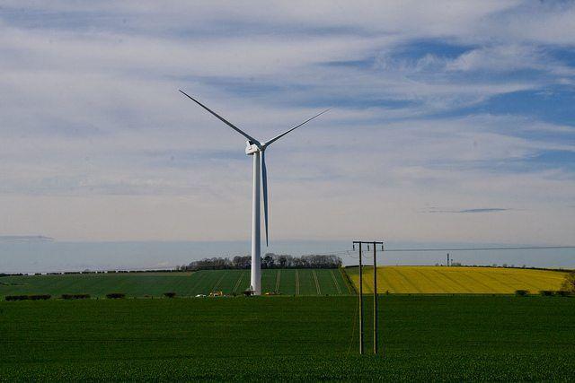 Wind Turbine Sanction Hill by Mark Thompson via flickr