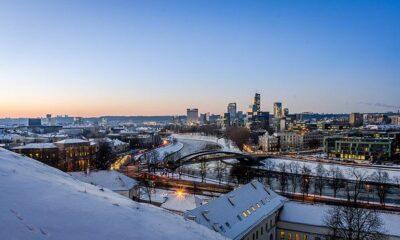 Winter cityscape of Vilnius by Mantas Volungevicius via flickr