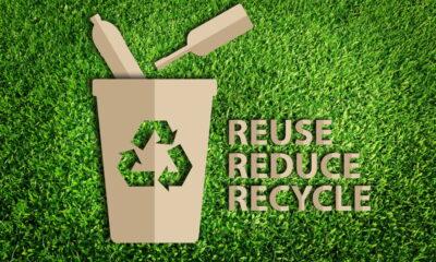 reuse reduce recycle plastic bottles etc