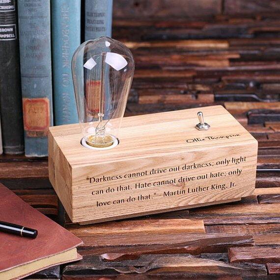 Engraved Lamp Box