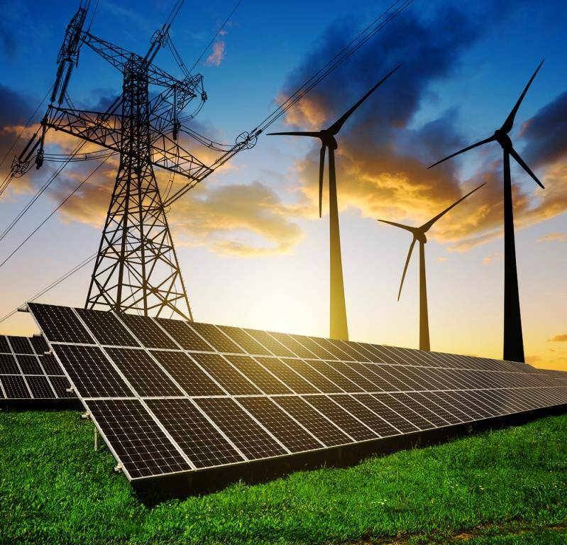 wind solar and natural gas eco-friendly resources