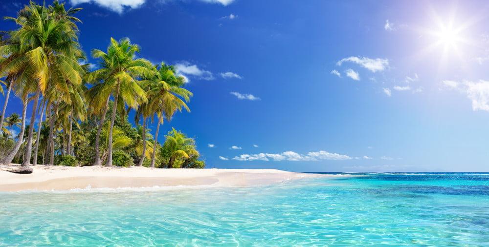 The Caribbean beach