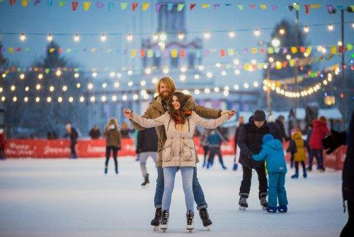 ice rink ice skating