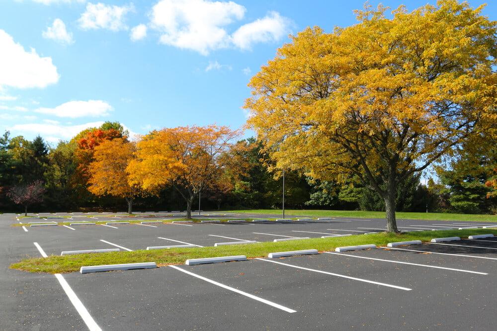 eco-friendly parking lot