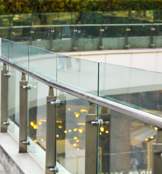 glass railings in eco-friendly buildings
